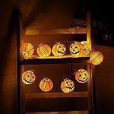 Snowfoller Pumpkin 10 LED String Lights Halloween Decoration Lights Warm White For Halloween Party Decor Halloween Light