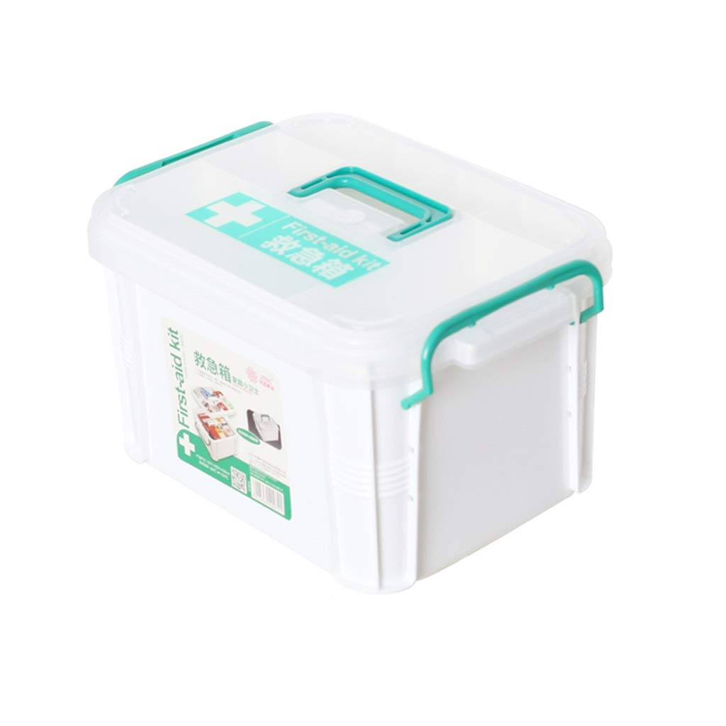 Clear Large MXueei Medicine Box First Aid Storage Box Medical Chest Pill Organiser (color   Clear, Size   S)