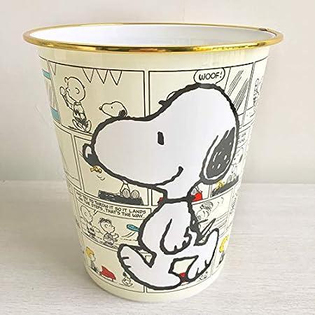 gfjfd Cartoon Impermeable Bote De Basura De Pl/ástico Basura Basura Barril Ba/ño De La Casa Bote De Basura Blanco Snoopy 21.5X Alto 23Cm
