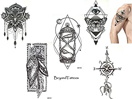 5 Láminas Top Trend Líneas Tatuajes Tattoo Grap Hische Tattoo Juego