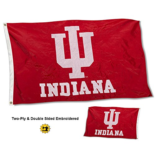 - College Flags and Banners Co. Indiana Hoosiers Double Sided Nylon Embroidered Flag