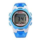 Electronics Kids Best Deals - POLIT Kids Student Electronic Wrist Watch Gift Digital Sport Waterproof Watch - Blue