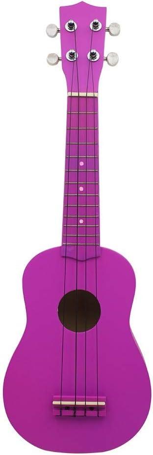 Color Blanco Mini 21 Pulgadas Soprano 12 Trastes Instrumento Estilo De Madera 4 De Principiantes Para La Guitarra Guitarra Cuerdas (purple 2)