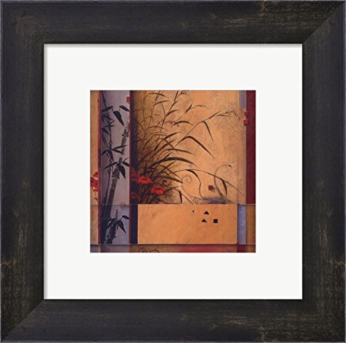 Don Bamboo Division Framed Art - Bamboo Division by Don Li-Leger Framed Art Print Wall Picture, Espresso Brown Frame, 10 x 10 inches