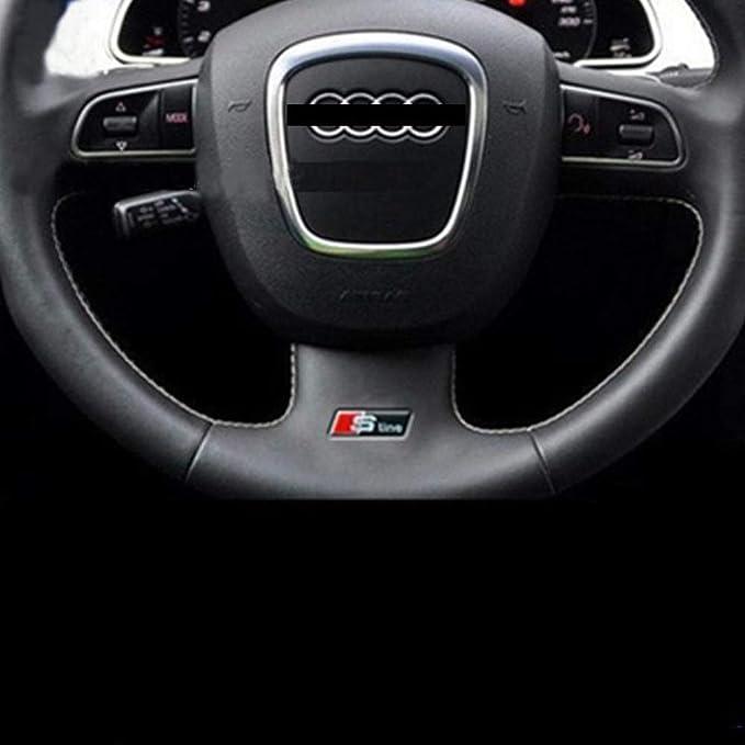 New Audi A4 Logo Rear Black Badge Wing Glossy Emblem Sticker S4 S Line Upgrade