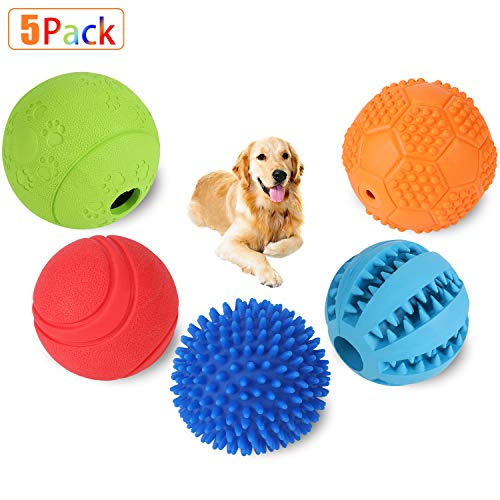 Slopehill Interactive Dog Toys Balls for Small Medium Large Dogs, Dog Puzzle Toys for Boredom, Durable Squeaky Balls IQ…