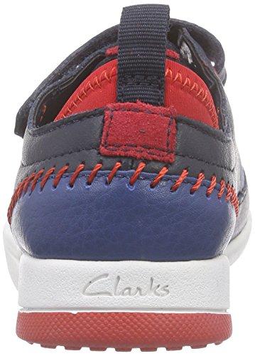 ClarksTri Scotty Inf - Zapatillas Niños Azul (Navy Combi Lea)