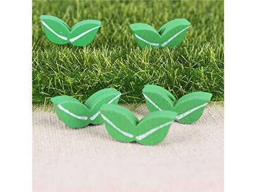 FenBuGu-JP 5個の木製の芝生のマイクロ景観の装飾品DIYの庭の盆栽の装飾(緑) (色 : Wooden)の商品画像