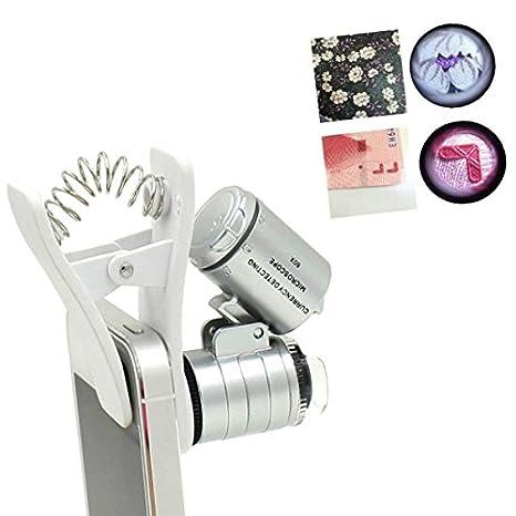 60x zoom microscopio lupa lupa de bolsillo Microscopio Clip Tipo ...