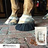EquiFit Pack-N-Stick Hoof Tape - Universal Fit - Eliminates The Hassle of Cutting, Assembling & Apply Duct Tape to Hooves Plus Mikes Instinct Apple Horse Treats (6 pcs. Hoof Tape, 1 Bag of Treats)