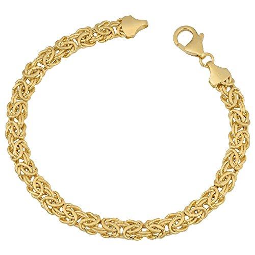 MCS Jewelry 14 Karat Yellow Gold Byzantine Bracelet 6mm (Length: 7.25