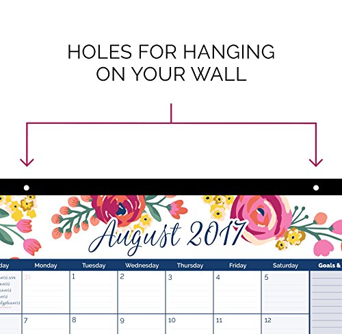 Bloom Daily Planners 2017 18 Academic Year Desk Or Wall
