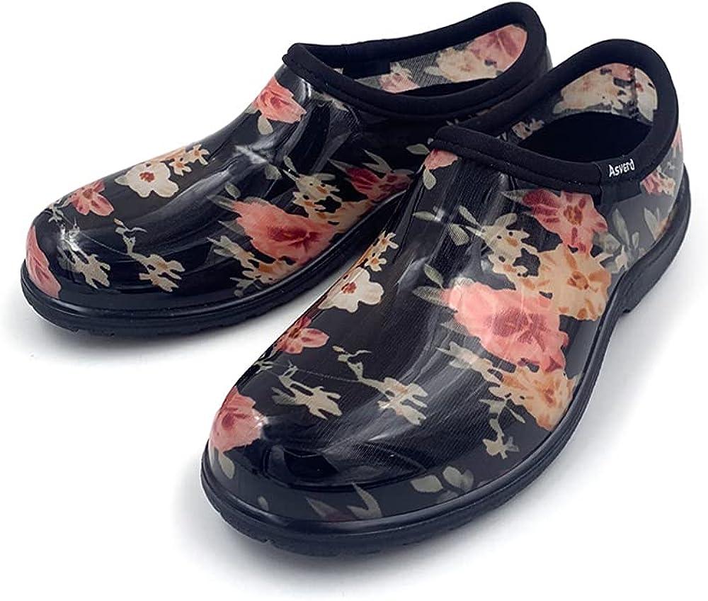 Asverd Women Garden Clogs Arch Support Rain Shoes AS2101