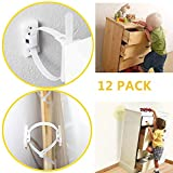 Furniture Straps Baby Proofing Anti-tip Walls (12 Pack) Proofing Anti-tilt Furniture Anchors Kit, Adjustable Child Safety Straps Earthquake Resistant Anti-shedding, Secure Bookshelf, Cabinet, Dresser