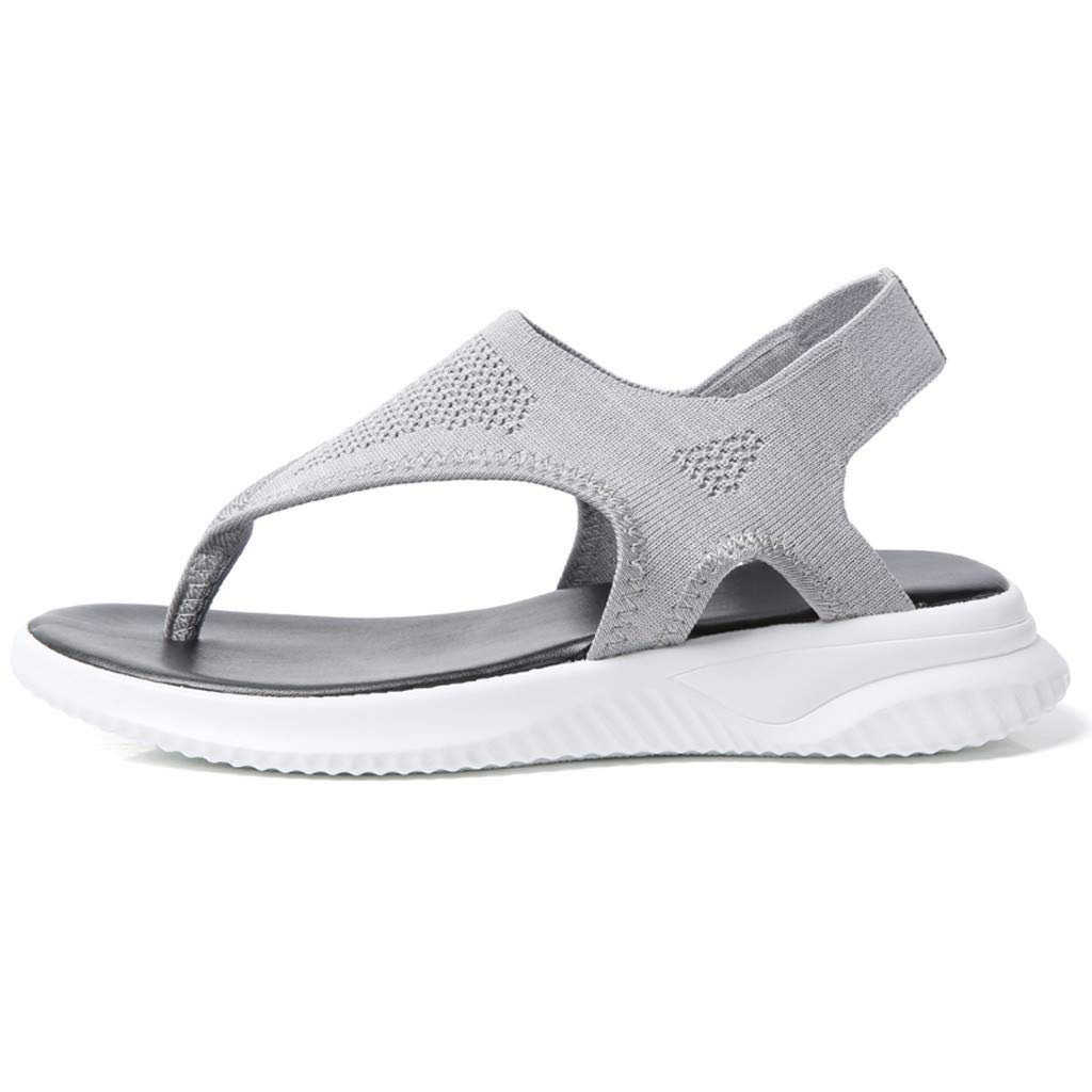 Women Thick Summer Flip Flop Shoes Clearance Sale, NDGDA Ladies Platform Roman Casual Flock Sandals by NDGDA Women Sandals (Image #3)