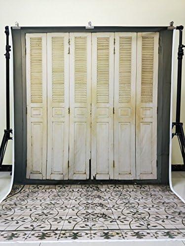 Konpon 5 x 7ft telón de fondo Fotografía de fondo de puerta de madera suelos de madera No arrugas sin costuras algodón fondos para estudio fotográfico kp-468: Amazon.es: Electrónica