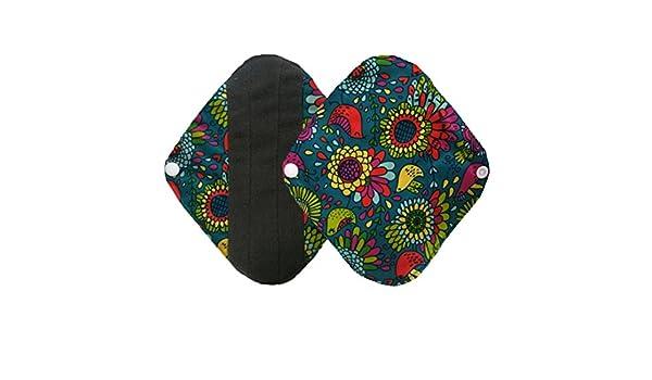 2 pcs reutilizable lavable a gamuza de bambú menstrual Pad, belleza toalla de Top Mama sanitarias Pad - Protegeslips, talla maletero y fabricado con energía ...