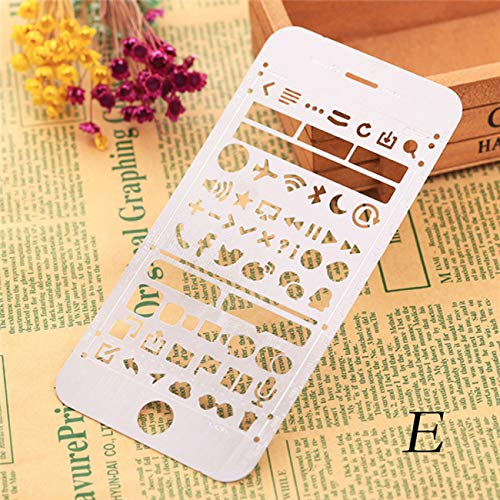 Pda Phone - 1pc Multifunctional Hollow Phone Shape Ruler Drawing Graffiti Template Promotional Gift Stationery - Phone Phones Keyboard Unlocked Templat Curve Template Ruler Tool Circle Draw Sten ()
