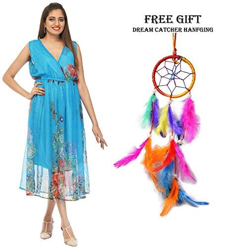 Partywear Sleeve Women's Dress Chiffon 1901 Floral Combo Odishabazaar Short Print waxPAtTwdq