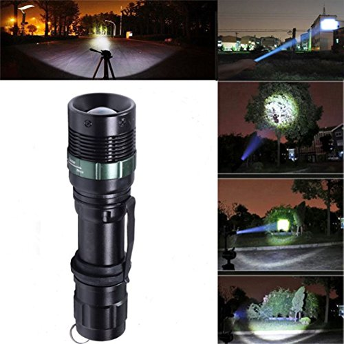 Attractive Popular 3 Mode LED Flashlight 3000 Lumen Adjustable Focus Skid Proof Design Zoomable Color (Xm Radio Stations For Halloween)