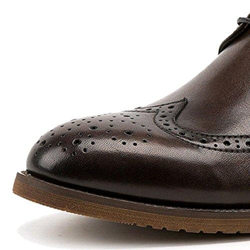 Transpirable Inglaterra De Calzado Interno Zapatos Brogues Cuero Aumento Oxford Negocios Hombre Cuero De Winered Casual 1UOqdwt