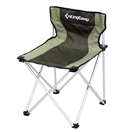 KingCamp Folding Camp Quad Chair Steel Frame Padded Oversized Light Weight Heavy Duty Portable Stable for Camping Picnic Backpacking Outdoor and Home with Carry Bag by KingCamp