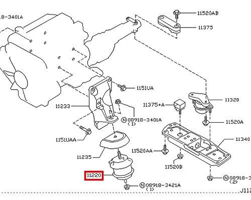 Amazon Com Infiniti Genuine Engine Mount Mounting Front Insulator