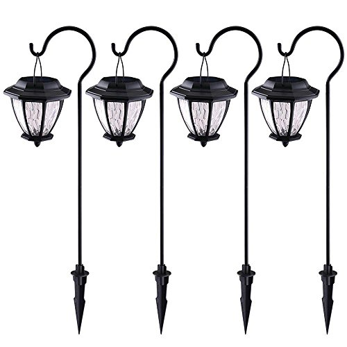 - Hampton Bay Matte Black Solar Path Light (4-Pack)
