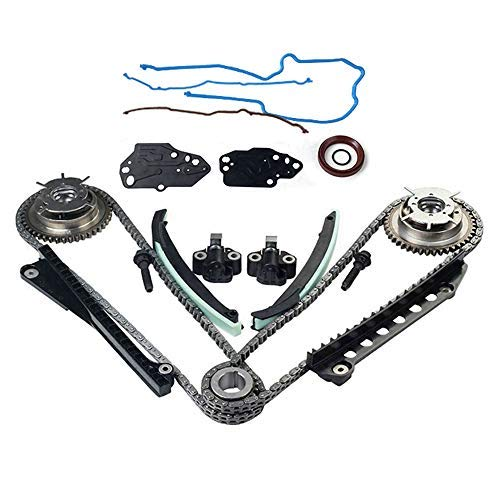 5.4 3V Triton Engine Timing Chain Kit, Camshaft Phaser Repair Kit, Variable Camshaft Timing Kit, Fit for Ford Expedition F150 F250 F350 Super Duty, Lincoln Navigator Mark LT ()