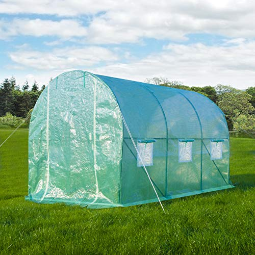 GOJOOASIS Greenhouse Walk-in Green Garden Hot House Outdoor Large Portable Arch Gardening Plant Shed (10'x7'x7') by GOJOOASIS (Image #4)
