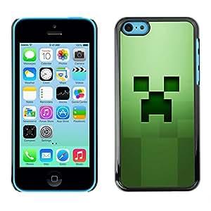 Cubierta protectora del caso de Shell Plástico || iPhone 5C || Cara espeluznante verde @XPTECH