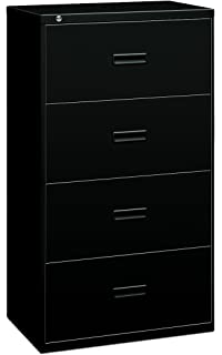 Basyx By HON Filing Cabinet   400 Series Four Drawer Lateral File Cabinet,  36w