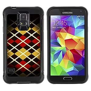 iKiki Tech / Estuche rígido - Pattern Design Fashion Stripes Style Art - Samsung Galaxy S5 SM-G900