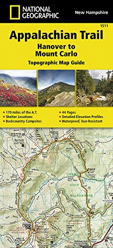 Appalachian Trail, Hanover to Mount Carlo [New Hampshire] (National Geographic Topographic Map Guide)
