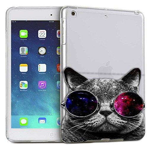c0074 - Cool Cat Sunglasses Fashion Trend Design ipad Mini 4 - 2015 Fashion Trend CASE Gel Rubber Silicone All Edges Protection Case - Trends Sunglasses 2015
