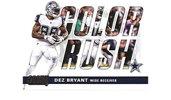 innovative design 514bd d244b Amazon.com: 2017 Score Color Rush #14 Dez Bryant Dallas ...
