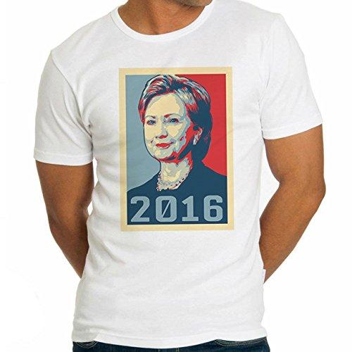 Hillary Clinton Poster 2016 Herren T-Shirt