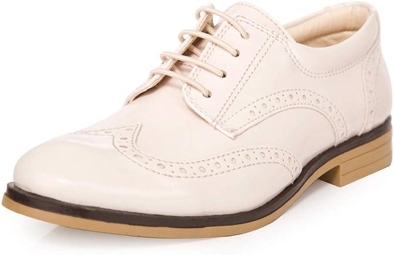 Boys Patent Formal Brogue Shoes, Boys