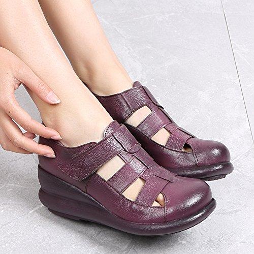 Da Violet Sandali Donna China Tallone Inferiore Sandali Soft Summer Spesso Scarpe Cavo Bottom Baotou Retro KPHY TwnzRqWgZS