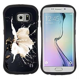 """Hypernova Slim Fit Dual Barniz Protector Caso Case Funda Para Samsung Galaxy S6 EDGE [Leche Extracto Líquido Primavera Timing""""]"""
