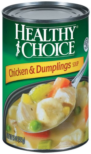 - Healthy Choice Soup Mix 15 Oz Cans 2 Chicken & Dumplings, 3 Chicken Noodle, 3 Country Vegetable, 2 Split Pea Soup (Pack of 10)