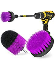 Holikme 4Pack Drill Brush Power Scrubber Cleaning Brush Extended Long Attachment Set