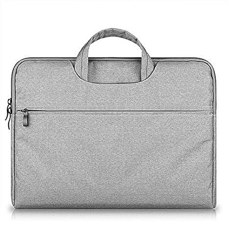 kimtime bolsa de ordenador ligero bolso golpes caja portátil para ordenador portátil maletín en mango 15 pulgadas gris gris claro 14 pouces: Amazon.es: ...