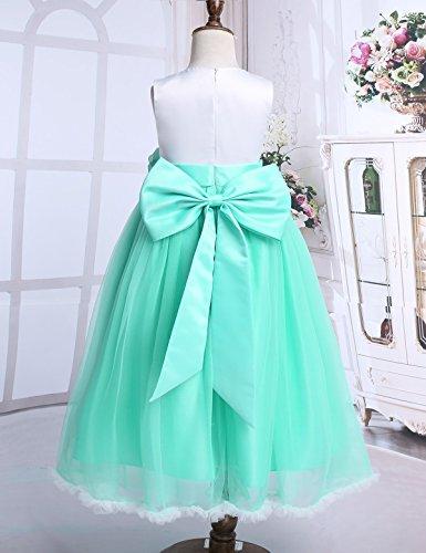 369af70fc FEESHOW Vestidos de fiesta Niñas Vestido de flores Elegante de Princesa  Vestido comunion niña para bodas cumpleaños Verde 14 Años: Amazon.es: Ropa  y ...