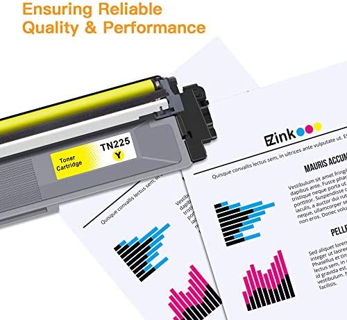 E-Z Ink (TM) Compatible Toner Cartridge Replacement for Brother TN221 TN225 to Use with MFC-9130CW HL-3170CDW HL-3140CW HL-3180CDW MFC-9330CDW (2 Black, 1 Cyan, 1 Magenta, 1 Yellow, 5 Pack)
