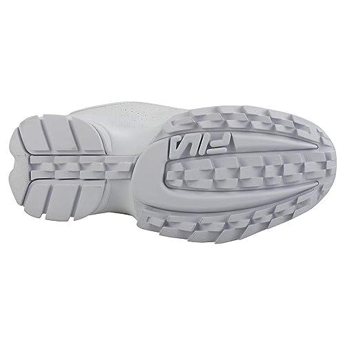 Fila Disruptor 2 Premium Mujeres Zapatillas White White - 6 UK: Amazon.es: Zapatos y complementos
