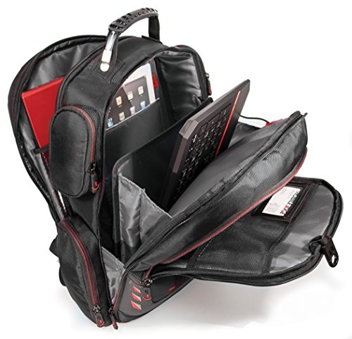 Mobile Edge - Core Gaming Backpack with Molded Front Panel 17''-18'' - Black with Red Trim (MECGBP1) by Mobile Edge (Image #5)