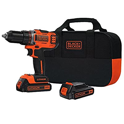 BLACK+DECKER BDCDHP220SB-2 20-Volt MAX Lithium-Ion Drill/Driver with 2 Batteries