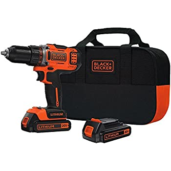 BLACK+DECKER BDCDHP220SB-2 20-Volt MAX Lithium-Ion Drill/Driver with 2 Batteries