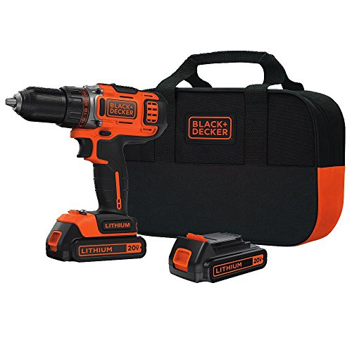 Cheap BLACK+DECKER BDCDHP220SB-2 20v Max Lithium Drill Driver with 2 Batteries